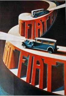 '20s futurist Fiat Ad