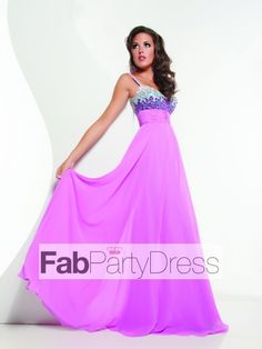 2013 Style A-line Straps Rhinestone Sleeveless Floor-length Chiffon Prom Dresses / Evening Dresses (SZ0300562) - FabPartyDress.com