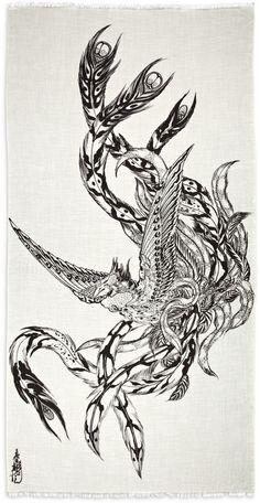Phoenix from Horiyoshi III scarf.  beautiful