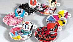 This special limited edition illy Art Collection was designed by renowned Spanish film director Pedro Almodóvar. Dating to the leading Italian coffee co… Espresso Cups, Coffee Cups, Tea Cups, Coffee Shop, Italian Coffee, Rare Birds, Coffee Branding, Good Cause, Cup And Saucer Set