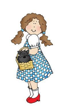 Free Dearie Dolls Digi Stamps: Dorothy and Toto 2/22/15