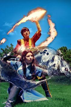 Zuko and Katara, Avatar the Last Airbender by ~Gekko-chou