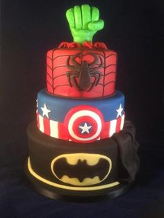 Superhero cake - Cake by For the love of cake (Laylah Moore)