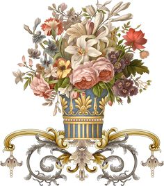 Baroque Design, Baroque Pattern, Baroque Art, Pattern Art, Watercolor Illustration, Floral Watercolor, Beautiful Flower Quotes, Decoupage, Flower Art Images