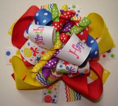 Girls Toddlers Infants Over The Top Happy Birthday by bowtowne, $12.95