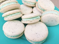 London Fog Macarons #londonfogmacarons #frenchmacarons #teal #homemade