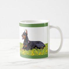 #Doberman Pinscher Coffee Mug - #doberman #pinscher #puppy #pinschers #dog #dogs #pet #pets #cute