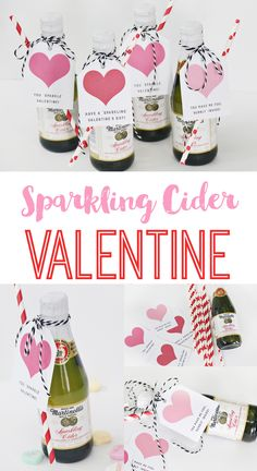 Martinelli's Sparkling Cider Valentine's Day Party - The Crafting Chicks - An adorable idea for a Family Valentine's Day Dinner this year on Crafting Chicks. Family Valentines Dinner, Valentines Day Party, Valentines Day Decorations, Valentine Day Crafts, Valentine Ideas, Cider Gifts, Dinner Party Decorations, Garden Decorations, Valentine's Day Printables