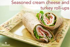 Seasoned cream cheese and turkey roll-ups: Recruit your kids to help make this recipe and let the good times roll! They'll enjoy learning about new foods and taste testing the results while you'll be happy they're practicing their measuring, math and reading skills! http://www.allinahealth.org/Health-Conditions-and-Treatments/Eat-healthy/Recipes/Appetizers-and-snacks/Seasoned-cream-cheese-and-turkey-roll-ups/