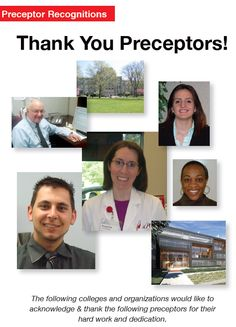 "Thank you Preceptors! --- Visit RXinsider's ""Preceptor Recognition"" Pinterest board to view all preceptor recognitions by colleges of pharmacy and other colleges and institutions."