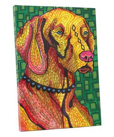OFF Storewide- Vizsla art Tile Ceramic Coaster Mexican Folk Art Print of painting by Heather Galler dog Canvas Wall Art, Canvas Prints, Art Prints, Abstract Animals, Abstract Art, Paint Your Pet, Dog Poster, Ceramic Coasters, Mexican Folk Art