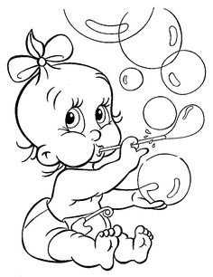 Cute Babe Blowing Bubble Balloons Coloring For Kids - Baby Coloring Pages : KidsDrawing – Free Coloring Pages Online Boy Coloring, Coloring Pages For Boys, Cartoon Coloring Pages, Disney Coloring Pages, Coloring Pages To Print, Coloring Book Pages, Printable Coloring Pages, Coloring Sheets, Princess Coloring