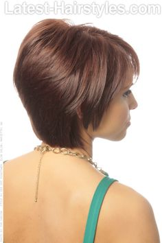 Short Hairstyle with Layers Side