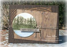 Stampin' Up! Waterfront - The #GDP130 challenge sketch was the inspiration for this masculine card featuring the Waterfront stamp set and Wood Textures DSP.