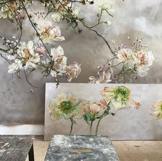 #clairebasler Mural Painting, Painting & Drawing, Claire Basler, Art For Art Sake, Botanical Art, Flower Art, Art Projects, Floral Design, Abstract