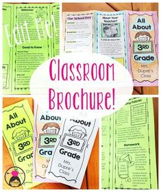1000 Ideas About Teacher Brochure On Pinterest Meet The