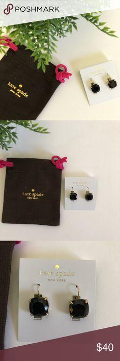 🆕 kate spade black earrings 🆕 kate spade jet black earrings kate spade Jewelry Earrings