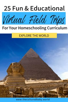 25 Fun & Educational Virtual Field Trips for Your Homeschooling Curriculum Educational Websites, Educational Activities, Learning Activities, Virtual Museum Tours, Virtual Tour, Mark Making, Material Didático, Virtual Field Trips, Virtual Travel
