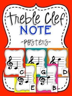 This is a set of posters to help your students familiarize themselves with the notes of the treble s Festival Quotes, Reading Music, School Notes, School Stuff, Music Classroom, Classroom Decor, Music School, Poster S, Treble Clef