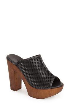 Charles David 'Tam' Peep Toe Platform Slide Sandal (Women) available at #Nordstrom