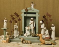 Willow Tree Nativity Sets. Missing a few pieces, but I am so excited to put mine up this year!