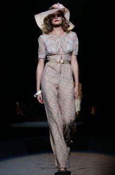 Anna Sui for Spring 2012...  #annasui #fashionweek #vintage #feminine