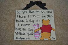 Disney Winnie the Pooh Canvas Quote
