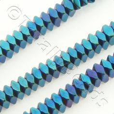Plated Hematite Cubes : Hematite Facet Square 2x1mm - Blue Plated Metallic Pink, Electric Blue, Cubes, Stone Beads, Turquoise Bracelet, Plating, Colours, Shapes, Mini