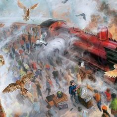 phone wall paper harry potter The Hogwarts Express background illustrated by Jim Kay Fanart Harry Potter, Harry Potter World, Harry Potter Jim Kay, Harry Potter Thema, Harry Potter Artwork, Mundo Harry Potter, Harry Potter Drawings, Harry Potter Cake, Harry Potter Wallpaper