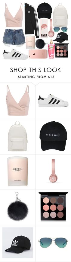 """a bunch of pretty things"" by zoemoecker ❤ liked on Polyvore featuring adidas, adidas Originals, PB 0110, Estée Lauder, Beats by Dr. Dre, MAC Cosmetics, Tiffany & Co. and Victoria's Secret"