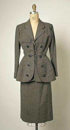 Suit  House of Balmain (French, founded 1945)  Designer: Pierre Balmain (French, St. Jean de Maurienne 1914–1982 Paris) Date: ca. 1950