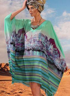 Kaftan Prelude YFQ33I - Tinute de plaja - Femei | Jolidon - Magazin Online Lenjerie Intima & Costume de Baie