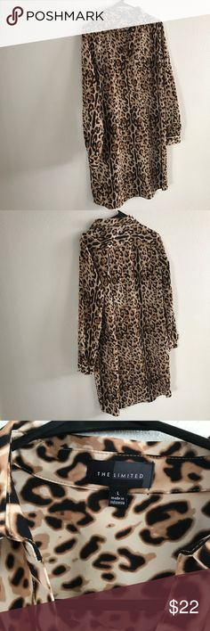 """Women's The Limited Dress (Large) Extremely cute cheetah print. Brand:  The Limited Size:  Large Chest: 17.5"""" Waist: 19"""" Length: 35.5"""" The Limited Dresses"""