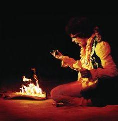 """""""  The time I burned my guitar it was like a sacrifice. You sacrifice the things you love. I love my guitar."""" Jimi Hendrix."""