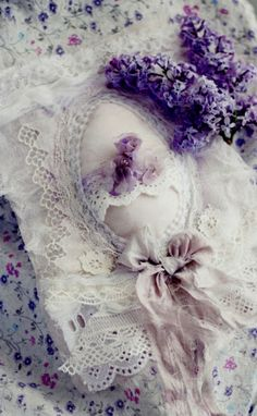 Shabby Chic lavender and lace