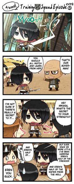 Training squad extra episode 3 Armin, Eren X Mikasa, Attack On Titan Comic, Attack On Titan Fanart, Attack Titan, Chibi, Anime Shows, Anime Characters, Squad