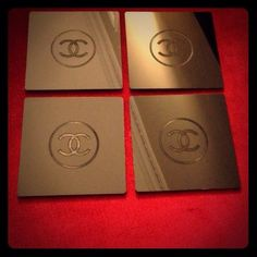 4 pieces chanel coasters vip gift Limited supply. Brand new never used. Acrylic material. CHANEL Accessories