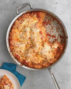 Skillet lasagna! I'm happy to cook anything in my cast iron skillet.