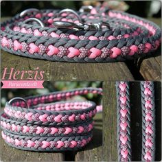 New No Cost paracord Dog Leash Thoughts There exists a a number of dog leashes out there at dogIDs, however can you be sure which leash is perfect for. Paracord Knots, 550 Paracord, Paracord Bracelets, Beaded Bracelets, Swiss Paracord, Diy Dog Collar, Dog Collars, Paracord Dog Leash, Armband Diy