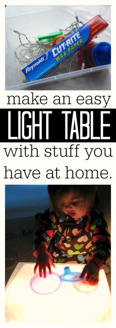 how to make a light table . The little guys would love this!