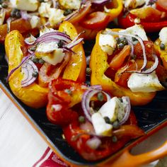 Now cook grilled peppers in 25 minutes and discover numerous other Weight Watchers recipes. Now cook grilled peppers in 25 minutes and discover numerous other Weight Watchers recipes. Healthy Recipes, Ww Recipes, Salmon Recipes, Crockpot Recipes, Vegetarian Recipes, Healthy Meals, Baked Peppers, Plats Weight Watchers, Meal Prep