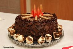 Campfire Cake.  Perfect for Boy Scouts.