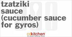 Tzatziki Sauce (Cucumber Sauce for Gyros) from CDKitchen.com
