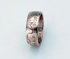 Incuse Indian 1/4oz .999 Pure Copper Coin Ring by TCSCustoms