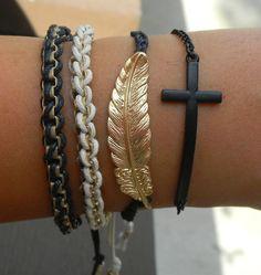arm candy black and gold feather ♥ f o s f o r i t a