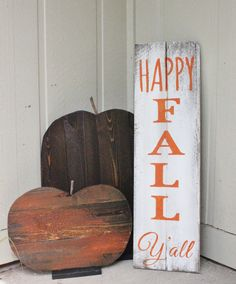 Happy fall Y'all wood sign! Beautiful on the front porch or in your home! Check out this item in my Etsy shop https://www.etsy.com/listing/204978432/happy-fall-yall-wood-sign