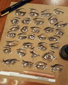 Eye practice by Mel Milton