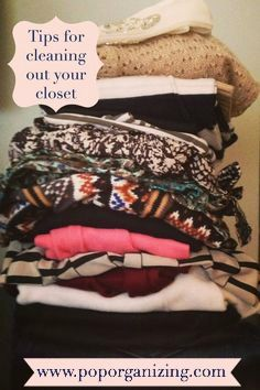 Tips for cleaning out your closet and purging clothes, how to clean out your closet, where to start cleaning out your closet Cleaning Closet, Organizing, Organization Ideas, Tips, How To Make, Clothes, Fashion, Outfit, Moda
