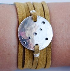 """""""I have loved stars too fondly to be afraid of the night"""" - Sarah Williams    Cancer constellation bracelet"""