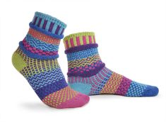 Let these mismatched pairs keep your feet cozy. Solmate Socks are made in USA using recycled cotton. Solmate Socks, Odd Socks, Ankle Socks, Matching Socks, Recycled Yarn, Crazy Socks, Novelty Socks, Cotton Socks, Fit Women
